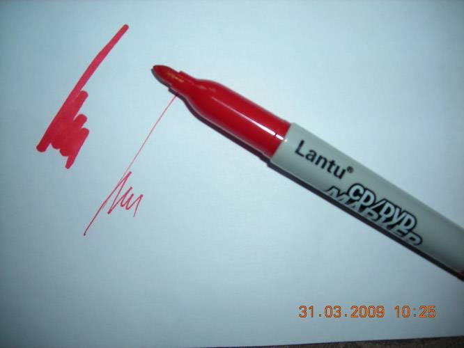Иллюстрация 1 из 4 для Маркер двухстор. для CD, плен Lantu (красн)   Лабиринт - канцтовы. Источник: Плахова  Татьяна