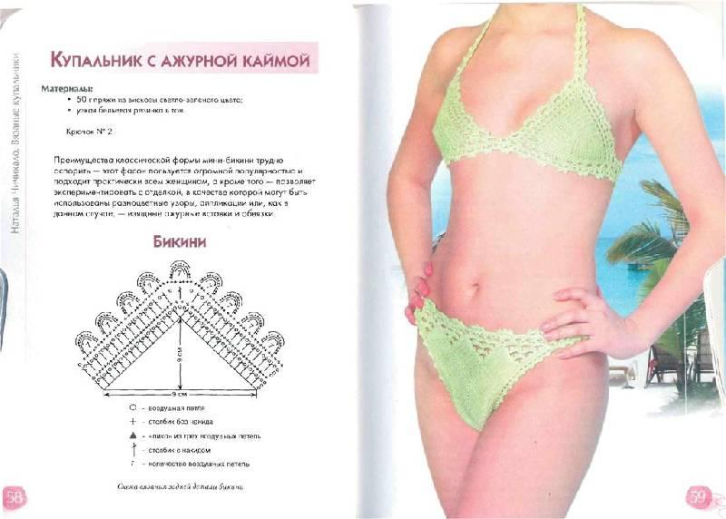 Иллюстрация 1 из 12 для Вязаные купальники | Лабиринт - книги. Источник: Юта
