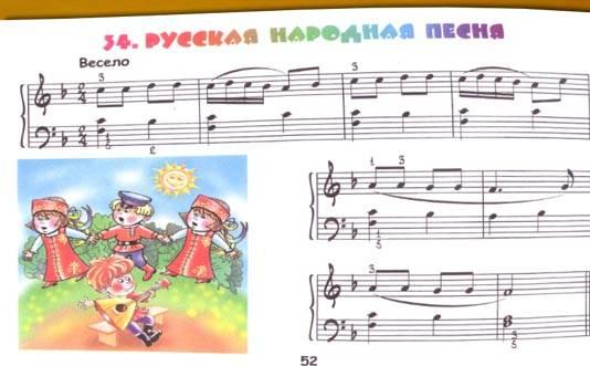 ноты на фортепиано знакомых песенок