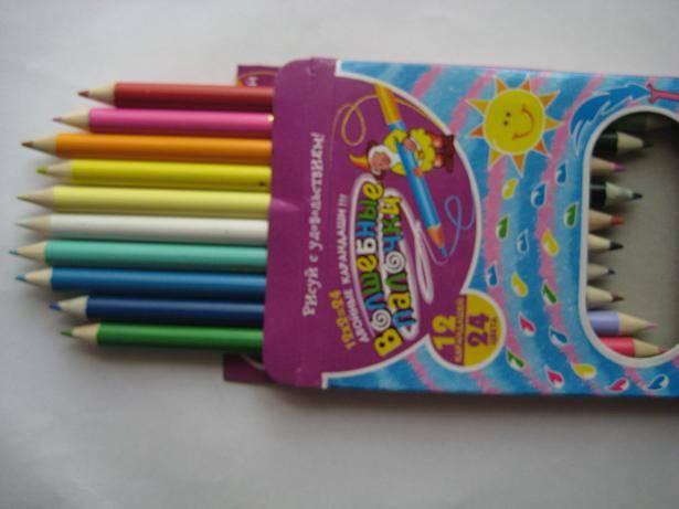 Иллюстрация 1 из 8 для Карандаши двухцветные 12 штук 24 цвета (DCP-12/24) | Лабиринт - канцтовы. Источник: kitteyn