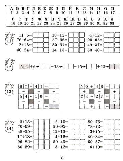 Иллюстрация 1 из 16 для Обезьянка Чита. Сложение и вычитание чисел в пределах сотни. 2 класс. Рабочая тетрадь - Марк Беденко   Лабиринт - книги. Источник: OOlga