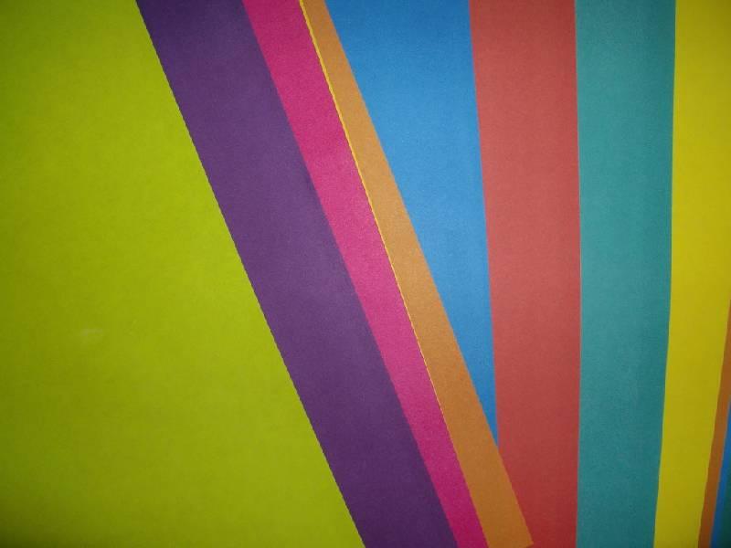 Иллюстрация 1 из 5 для Бумага цветная двусторонняя (10 цветов, 20 листов, А4) (МБЦ 4 20Д/10) | Лабиринт - канцтовы. Источник: Tiger.