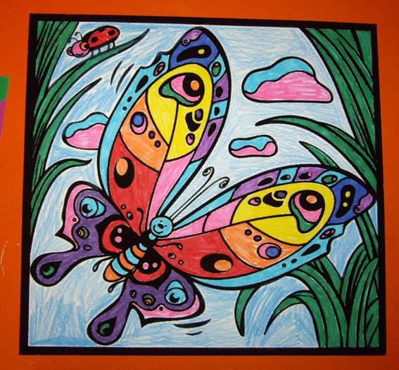 Иллюстрация 1 из 2 для Бархатные раскраски-мини. Бабочка | Лабиринт - игрушки. Источник: OOlga