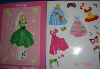 Иллюстрация 1 из 10 для Магнитные наклейки Модница | Лабиринт - игрушки. Источник: Мамуля