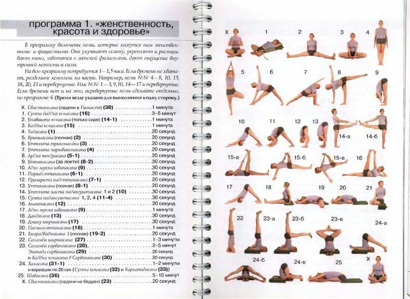 Йога дома для начинающих упражнения в картинках