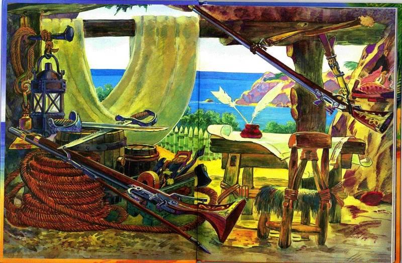 Иллюстрация 1 из 16 для Робинзон Крузо - Даниель Дефо | Лабиринт - книги. Источник: Крупнов  Вячеслав Александрович