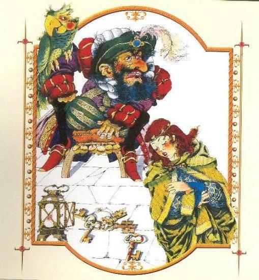 Иллюстрация 1 из 18 для Синяя борода. Золотой драгун: Сказки | Лабиринт - книги. Источник: Пчёлка Майя