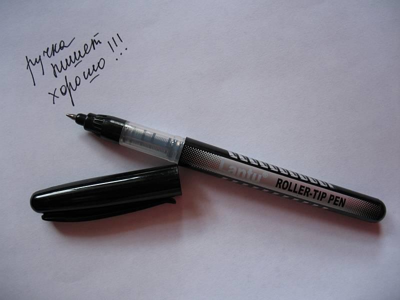 Иллюстрация 1 из 3 для Ручка роллер Lantu (черная) | Лабиринт - канцтовы. Источник: Lublu!
