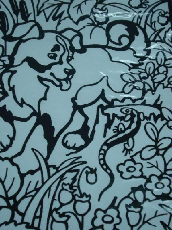 Иллюстрация 1 из 2 для Бархатная раскраска. Щенок | Лабиринт - игрушки. Источник: rizik