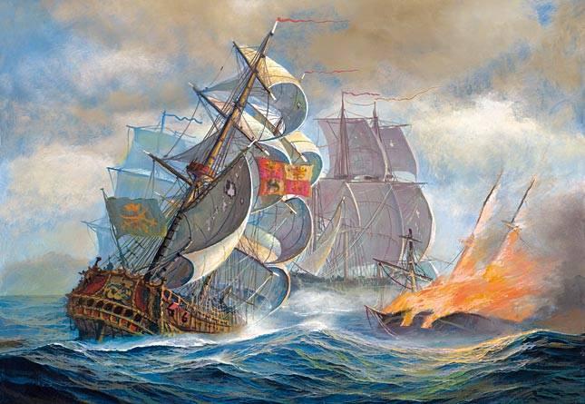 Иллюстрация 1 из 7 для Puzzle-500. Морское сражение (В-51373) | Лабиринт - игрушки. Источник: Губяткин  Павел Владимирович
