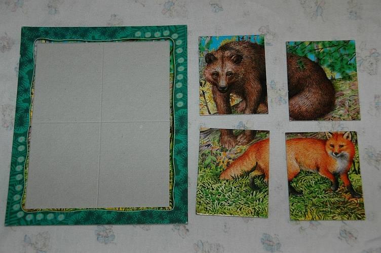 Иллюстрация 1 из 3 для Развивающие рамки. Живая природа. Медведь и лиса | Лабиринт - игрушки. Источник: Jen