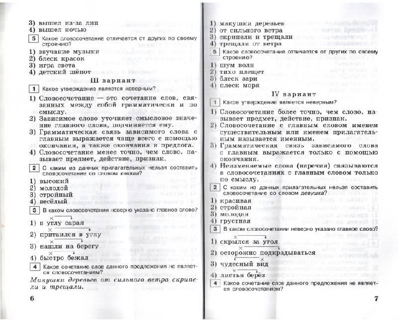 Тренажер по русскому языку 5 класс
