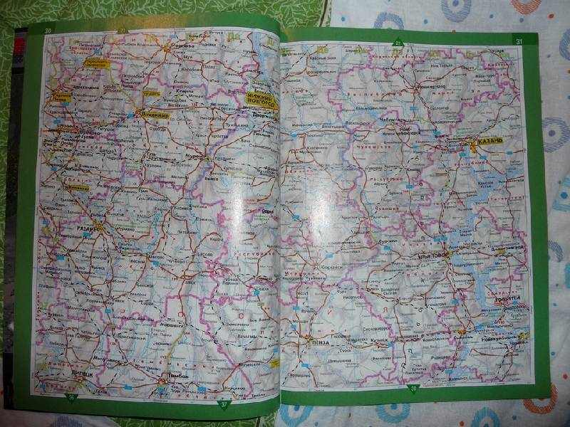 Иллюстрация 1 из 2 для Атлас автодорог. Россия. Европейская часть: От Мурманска до Сочи | Лабиринт - книги. Источник: Pysh