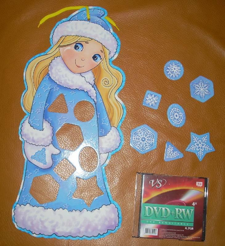 Иллюстрация 1 из 3 для Фигурный пазл: Снегурочка в снежинках | Лабиринт - игрушки. Источник: Качура Светлана Анатольевна