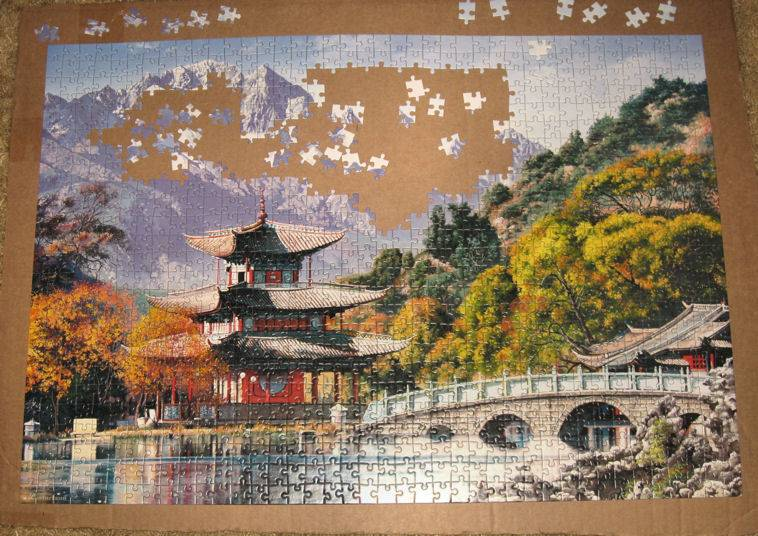 Иллюстрация 1 из 13 для Puzzle-1000. Пагода, Китай (С-101481) | Лабиринт - игрушки. Источник: Алена