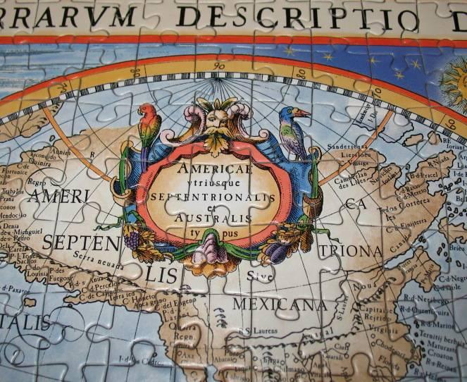 Иллюстрация 1 из 9 для Puzzle-1000. Карта мира (С-100545)   Лабиринт - игрушки. Источник: WhiteUnicorn