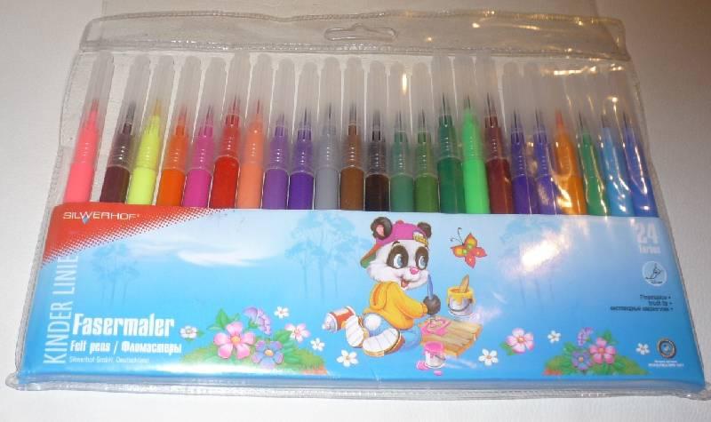 Иллюстрация 1 из 4 для Фломастеры 24 цвета Panda (862427-02) | Лабиринт - канцтовы. Источник: Шлапак  Олеся Николаевна