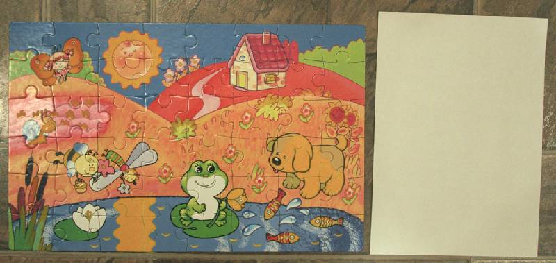 Иллюстрация 1 из 3 для Бархатные пазлы. В гостях у лягушки | Лабиринт - игрушки. Источник: NNN