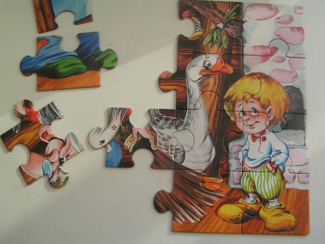 Иллюстрация 1 из 2 для Гуси-лебеди. Пазл-20 макси (00193)   Лабиринт - игрушки. Источник: Галя-Галя