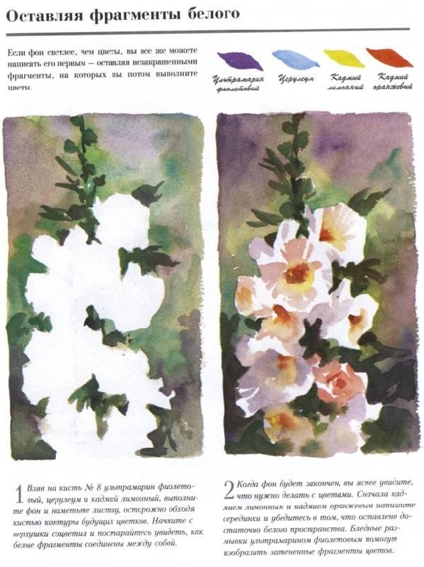 Рисовать цветы акварелью