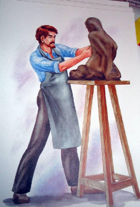 знакомство с профессией художник