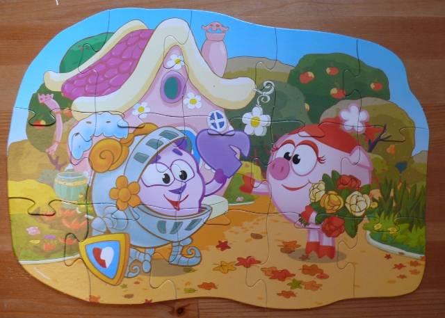 Иллюстрация 1 из 2 для Maxi Puzzle. Смешарики. Бараш и Нюша | Лабиринт - игрушки. Источник: personok