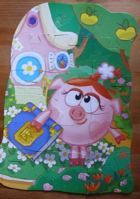 Иллюстрация 1 из 2 для Maxi Puzzle. Смешарики. Нюша | Лабиринт - игрушки. Источник: personok