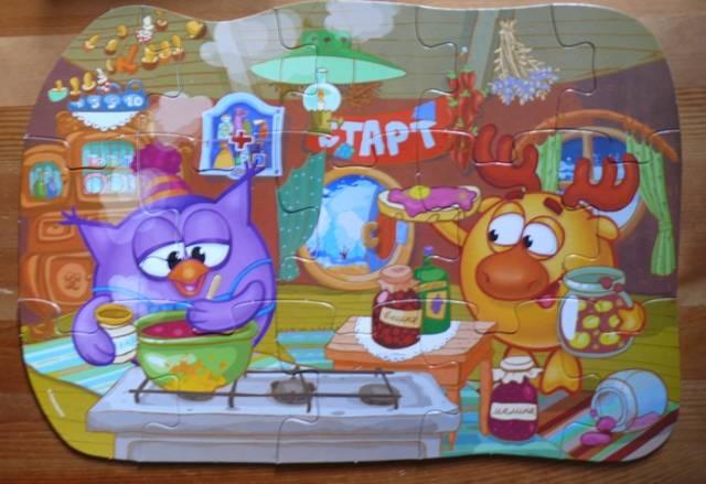 Иллюстрация 1 из 2 для Maxi Puzzle. Смешарики. Лосяш и Совунья | Лабиринт - игрушки. Источник: personok
