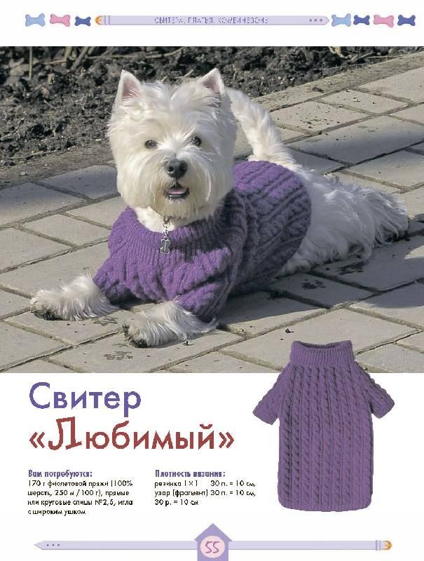 Вязание крючком схемы и описание одежда для собак.