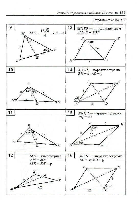 Решебник Балаян Геометрия На Готовых Чертежах 7-9
