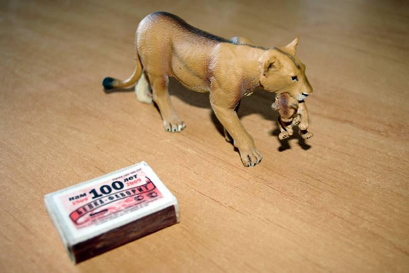 Иллюстрация 1 из 13 для Львица с львенком в зубах (225229) | Лабиринт - игрушки. Источник: Валерия