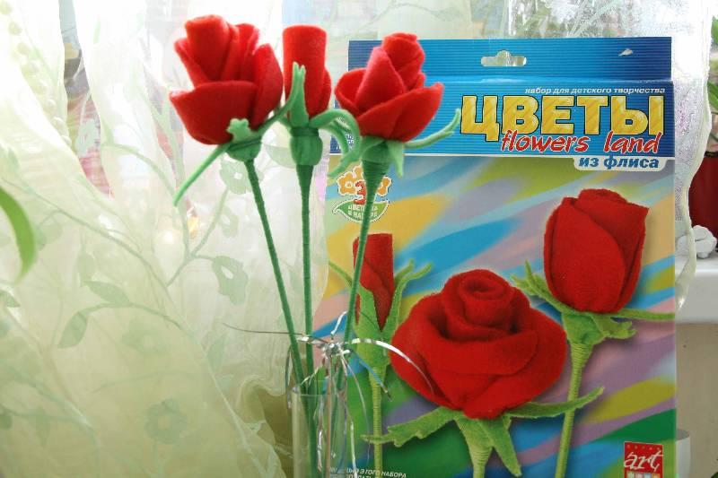 Иллюстрация 1 из 8 для Цветы из флиса Розы (Рк-037) | Лабиринт - игрушки. Источник: ALYO