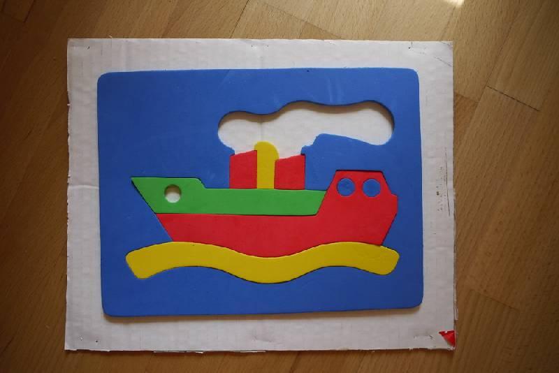 """Иллюстрация 1 из 3 для Мягкий конструктор. Мозаика """"Кораблик""""   Лабиринт - игрушки. Источник: innacem"""