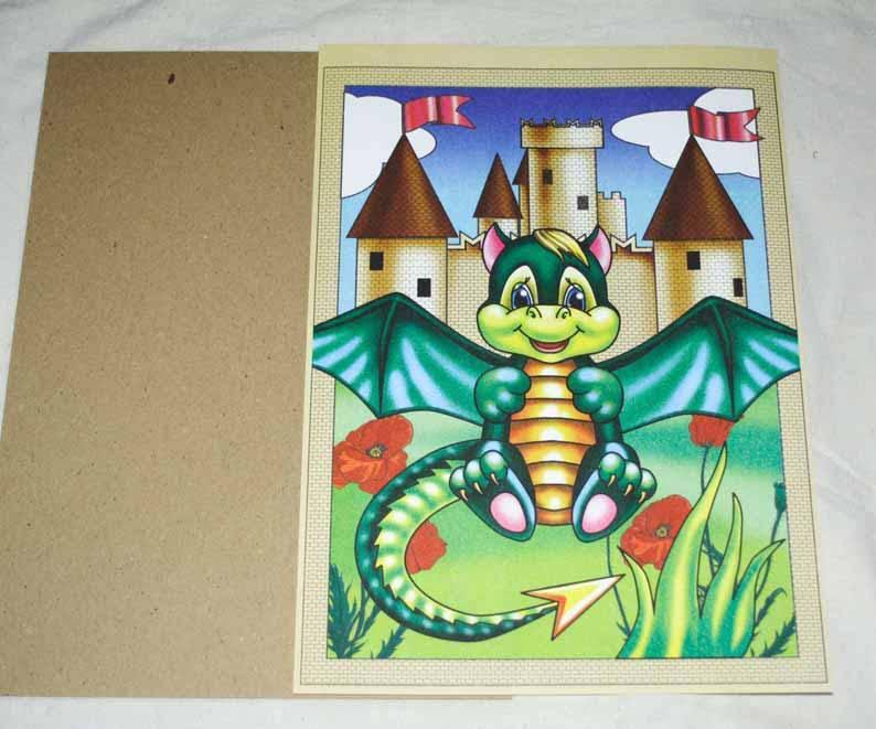 Иллюстрация 1 из 12 для Картина из бумаги: Дракончик   Лабиринт - игрушки. Источник: вера_о