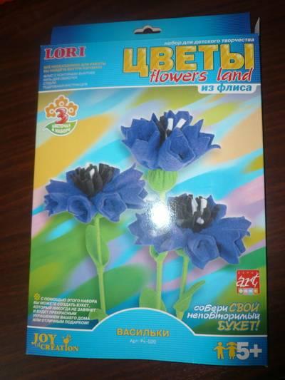 Иллюстрация 1 из 13 для Цветы из флиса Васильки (Рк-020) | Лабиринт - игрушки. Источник: Nadezhda_S