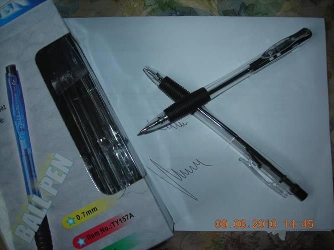 Иллюстрация 1 из 3 для Ручка автоматическая с резиновой вставкой Tianjiao (TY-157D) | Лабиринт - канцтовы. Источник: Плахова  Татьяна
