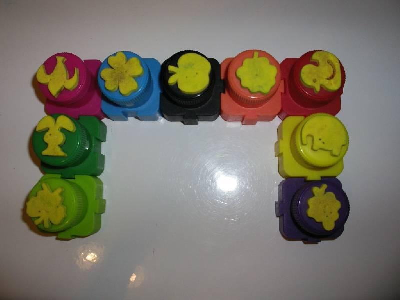 """Иллюстрация 1 из 2 для Краски пальчиковые """"Лунтик"""" 10 цветов, 20 мл. (964132-20)   Лабиринт - канцтовы. Источник: Tiger."""