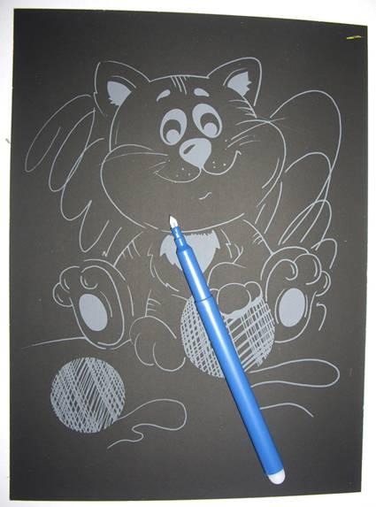 Иллюстрация 1 из 2 для Гравюра Озорной котенок (Гр092) | Лабиринт - игрушки. Источник: OOlga