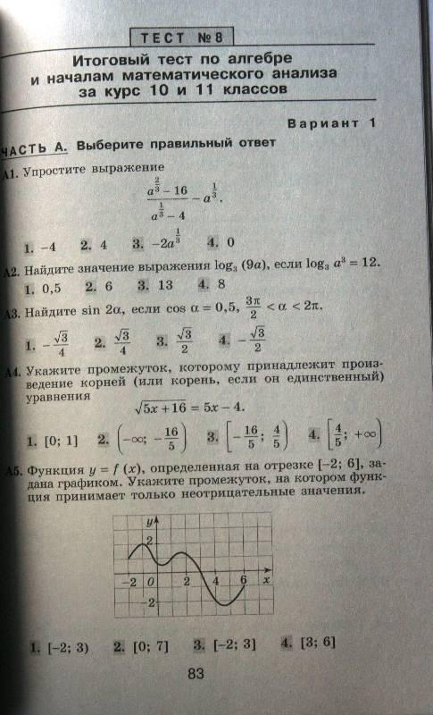 Кимы по математике 10-11класс