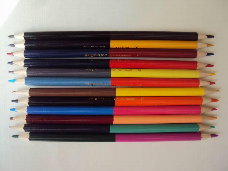 """Иллюстрация 1 из 7 для Карандаши  24 цвета, двусторонние 12 штук """"Zanzibar"""" (132429-10)   Лабиринт - канцтовы. Источник: Карамелька"""
