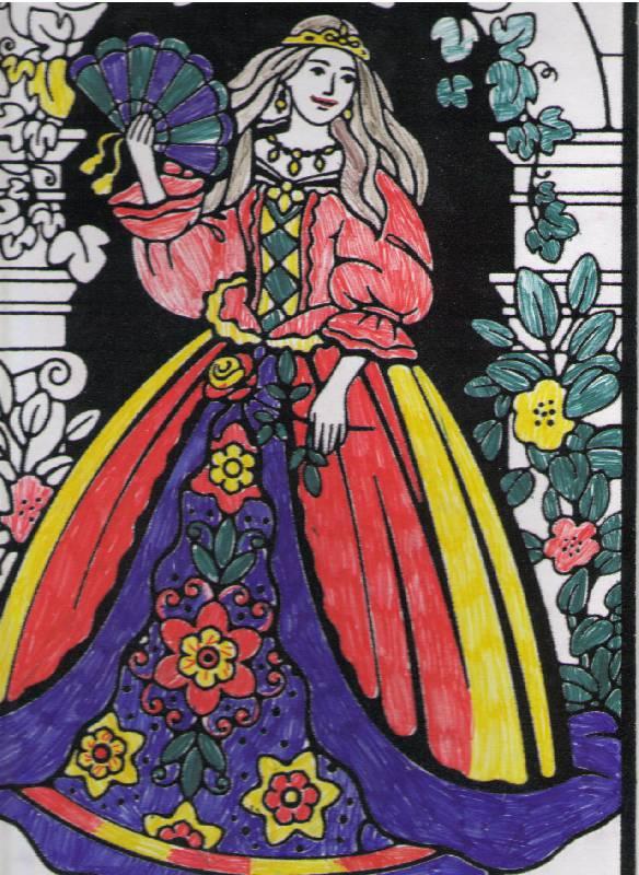Иллюстрация 1 из 2 для Бархатные раскраски. Принцесса (1648) | Лабиринт - игрушки. Источник: Елена Владимировна