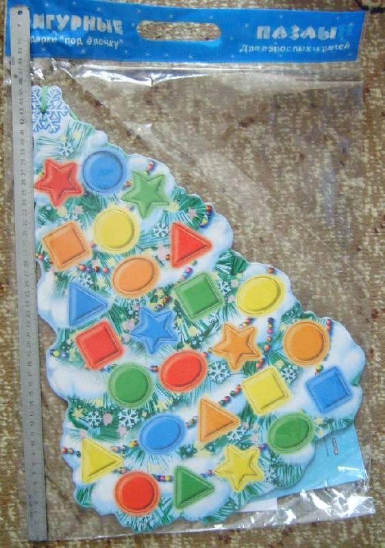 Иллюстрация 1 из 10 для Фигурный пазл: Снежная Елочка | Лабиринт - игрушки. Источник: Tatka