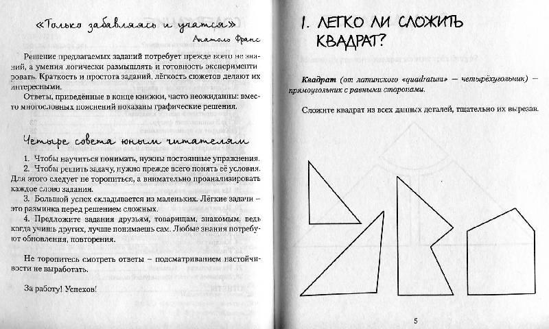 Иллюстрация 1 из 31 для Вокруг квадрата с ножницами и клеем. Головоломки для всей семьи - Анатолий Шапиро | Лабиринт - книги. Источник: Росинка