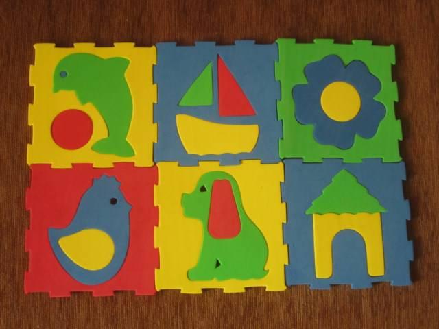 Иллюстрация 1 из 3 для Мозаика. Коврик с силуэтами. 6 шт. (053206) | Лабиринт - игрушки. Источник: Побережская  Ольга