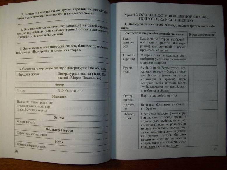 гдз по литературе тпо 6 класс кочергина