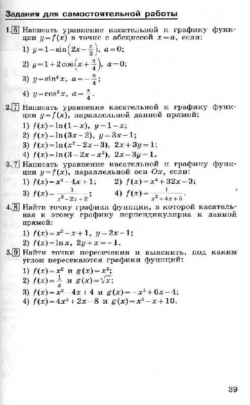 Тесты по математике 11 класса