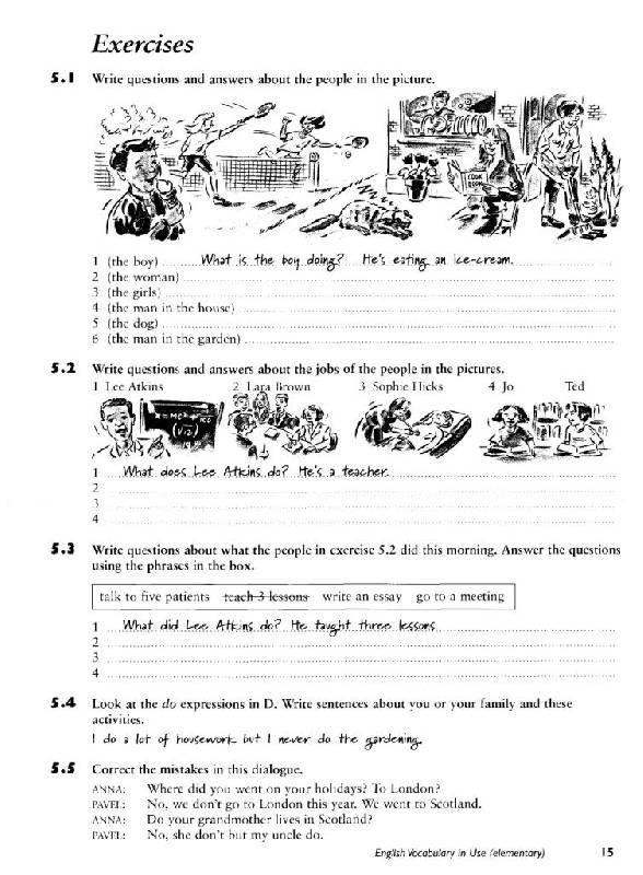 К use vocabulary решебник english elementary in