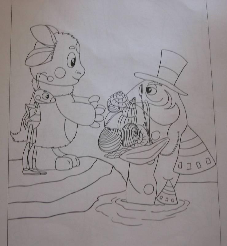Иллюстрация 1 из 8 для Лунтик №07-21. Наклей и раскрась | Лабиринт - книги. Источник: Е.  Анна В.