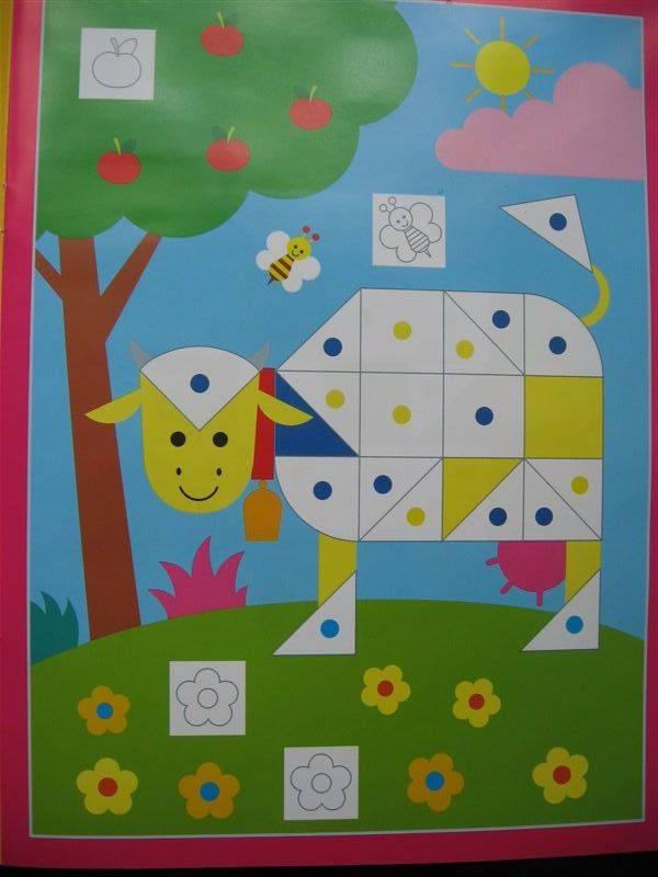 Иллюстрация 1 из 3 для Моя первая мозаика с наклейками №1 | Лабиринт - книги. Источник: Юта