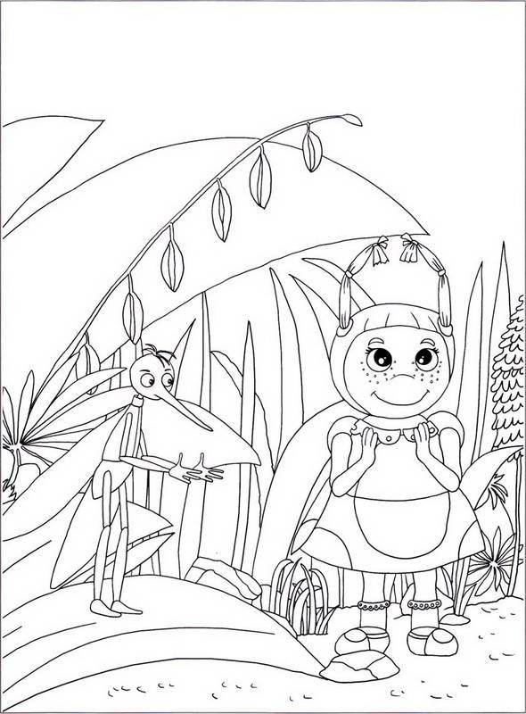 Иллюстрация 1 из 10 для Лунтик  0812 Наклей и раскрась | Лабиринт - книги. Источник: Ялина
